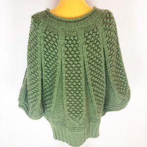 Alberto Makali Sage Green Wool Oversized Sweater